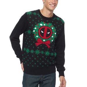 Men's Marvel Deadpool Christmas Sweater Size XL